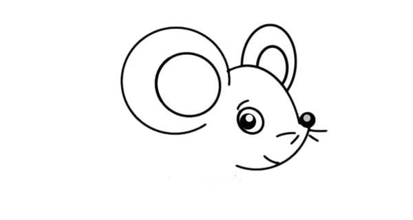 可爱小老鼠简笔画步骤图解教程_可爱老鼠简笔画图片