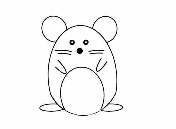 卡通可爱老鼠简笔画步骤图解教程 呆萌老鼠如何画