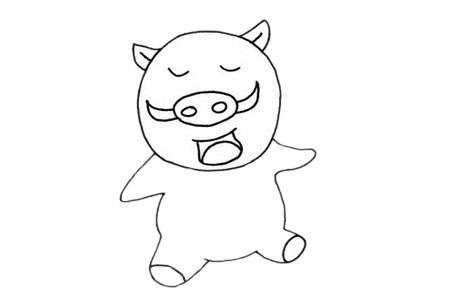 野猪如何画最简单 卡通野猪简笔画步骤图解教程