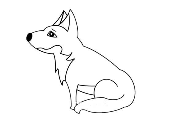 狼的最简单画法 简笔画狼的画法步骤图解教程