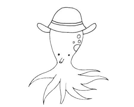 简单又漂亮的章鱼如何画 卡通章鱼简笔画步骤图解教程