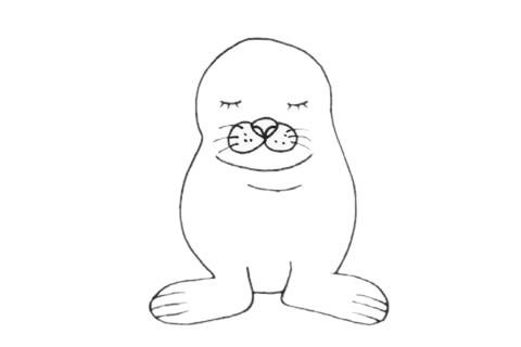 海狮如何画最简单 海狮简笔画画法步骤图片大全