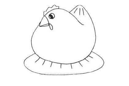 母鸡简笔画简单又漂亮 母鸡简笔画步骤图片大全