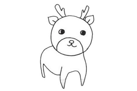 梅花鹿如何画漂亮又简单 梅花鹿简笔画步骤图解教程