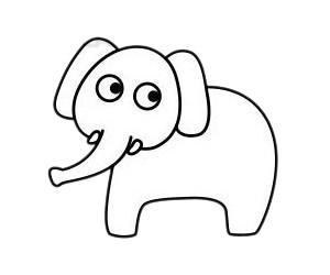 大象如何画最简单 大象简笔画步骤图解教程