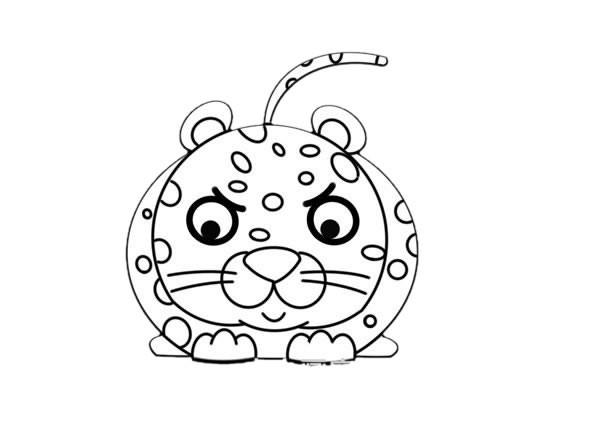 猎豹简笔画 狩猎的豹子简笔画步骤图解教程