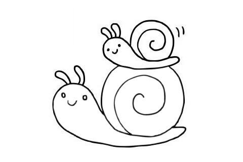 简单又漂亮的蜗牛如何画 可爱蜗牛简笔画步骤图片大全