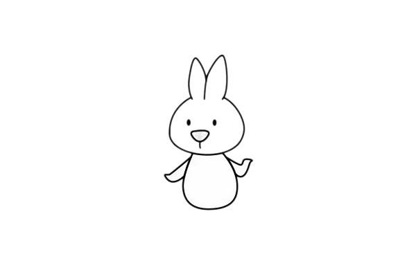 小白兔最简单的画法 卡通兔子简笔画步骤图片大全