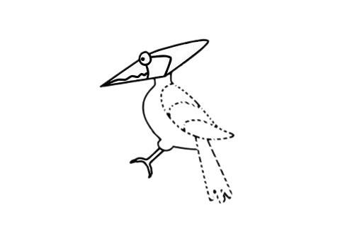 啄木鸟如何画简笔画图片 啄木鸟简笔画步骤图片大全