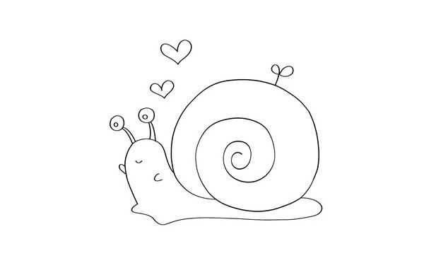 彩色卡通蜗牛简笔画步骤画法教程 蜗牛如何画简单又漂亮