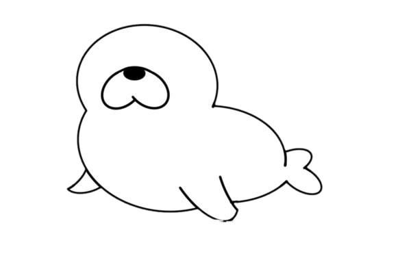 海狮如何画简笔画图片大全