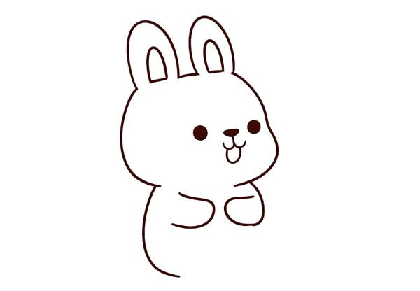 兔子如何画简单漂亮可爱 抱着胡萝卜的小兔子简笔画步骤图解教程