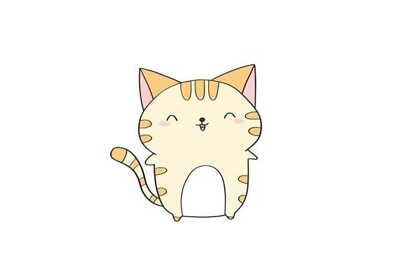 可爱的小猫咪如何画又漂亮又简单 卡通猫咪简笔画步骤图解