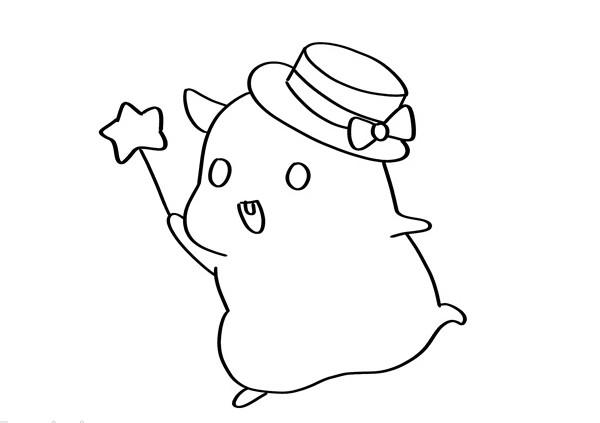 仓鼠如何画简单又可爱一步一步教_仓鼠简笔画画法