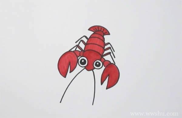 龙虾如何画简笔画图片_龙虾简笔画
