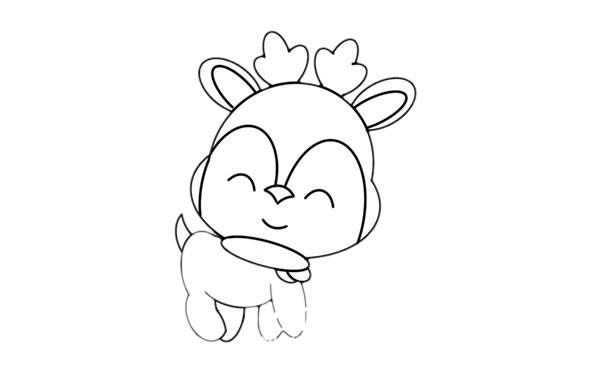 小鹿如何画可爱又简单又漂亮_卡通小鹿简笔画