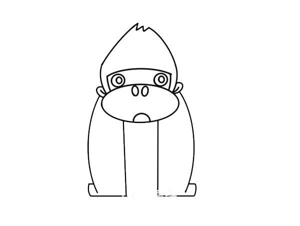 卡通大猩猩简笔画图片 大猩猩如何画简单又可爱