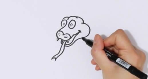 彩色的蛇简笔画步骤图片 蛇如何画简笔画又简单