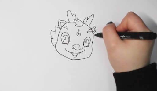 卡通小龙如何画简笔画简单漂亮