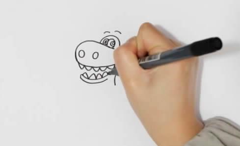 卡通霸王龙如何画简笔画简单又漂亮