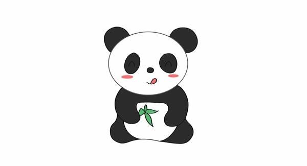 大熊猫如何画简笔画简单又可爱