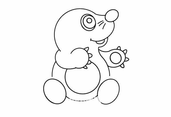 鼹鼠宝宝如何画简笔画简单又可爱