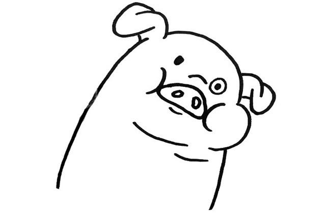 可爱的小猪简单画法 - 小猪简笔画图片大全