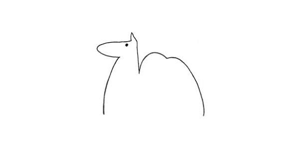 骆驼简笔画步骤图解教程及图片大全