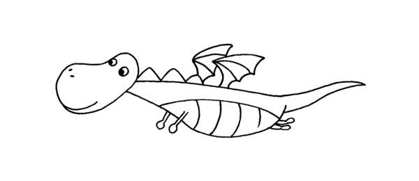 一组恐龙简笔画步骤图解教程及图片大全