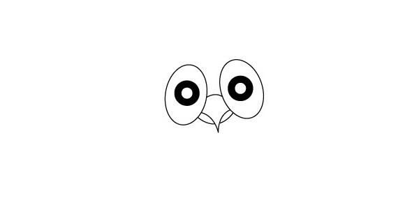 学画猫头鹰简笔画步骤图解教程