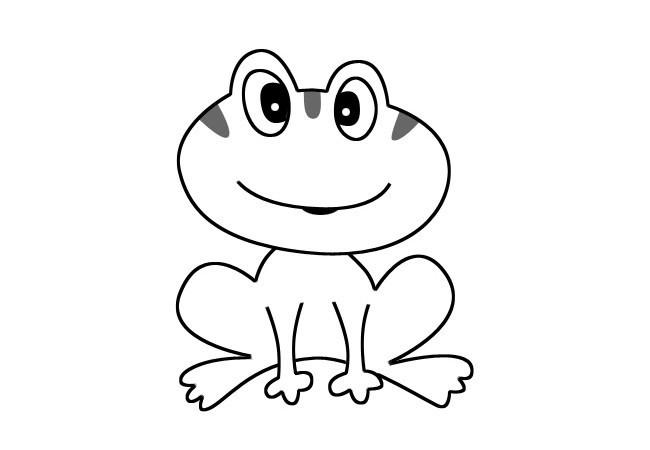 卡通青蛙简笔画 可爱的小青蛙简单画法大全