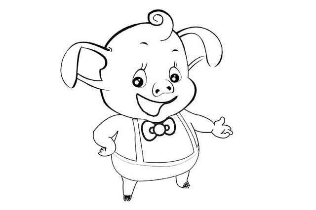 卡通小猪简笔画 两种可爱的小猪简单画法