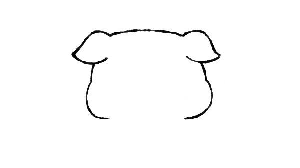 可爱的小猪简笔画步骤图解 猪年学画小猪画法教程