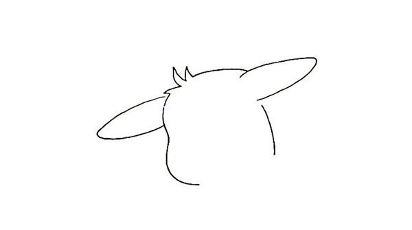 可爱的皮卡丘简笔画画法步骤图解教程