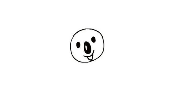 一步步教你画可爱的树袋熊简笔画画法步骤图解教程