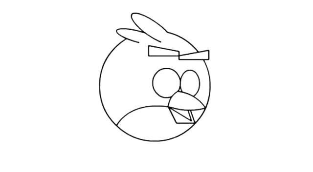 简单八步画出愤怒的小鸟简笔画步骤图教程
