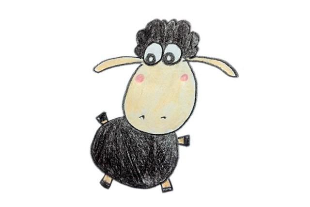 简单六步学画小羊肖恩简笔画步骤图教程