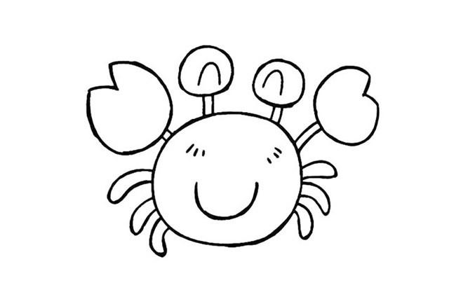 8种卡通螃蟹简笔画的画法图片大全