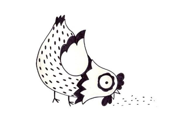 可爱小公鸡简笔画图片大全