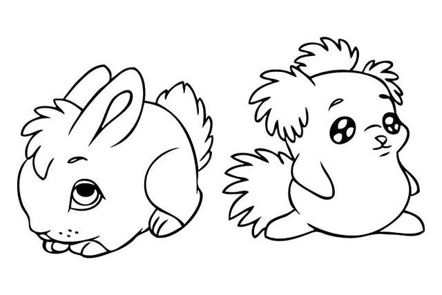 复活节兔子简笔画图片大全