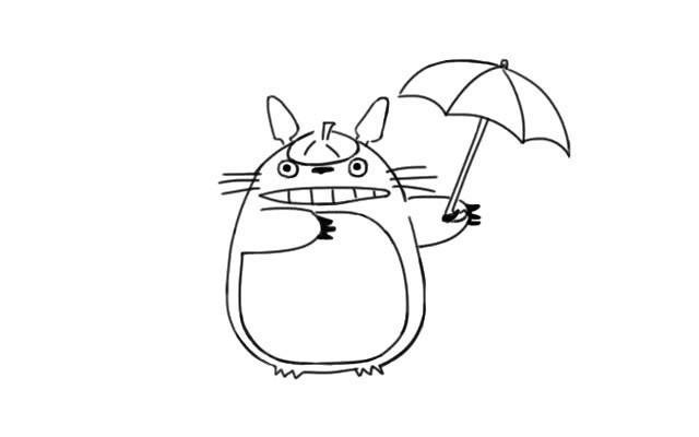 龙猫如何画 学画可爱的龙猫简笔画步骤图解教程