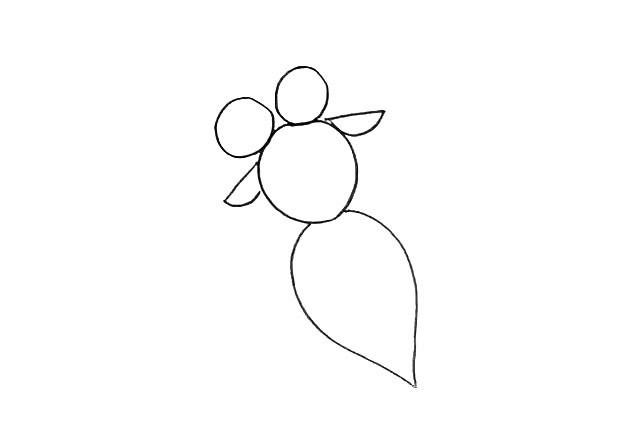 大眼金鱼简笔画 简单的画法步骤图解教程