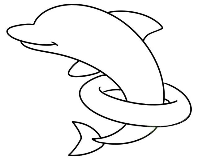 海豚简笔画 儿童学画海豚简笔画教程步骤图片大全