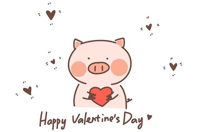 情人节告白的小猪简笔画的画法步骤图片大全
