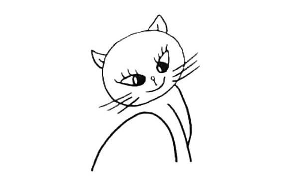 小猫咪的画法 一步步学画可爱的小花猫简笔画教程步骤图片大全