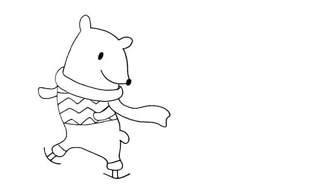 北极熊如何画 可爱的北极熊简笔画教程步骤图片大全