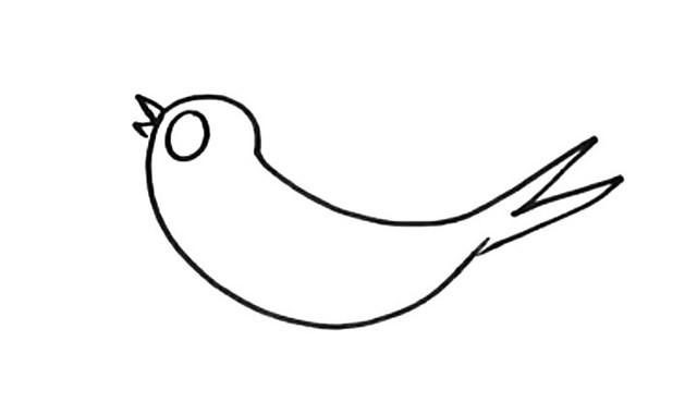 简单几步学画小燕子简笔画教程