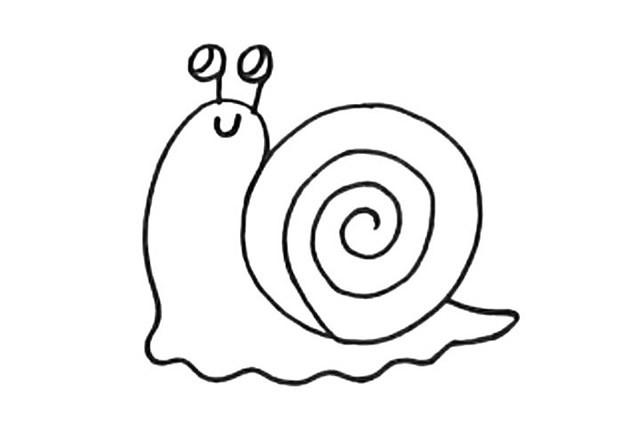 简单几步学画蜗牛简笔画教程