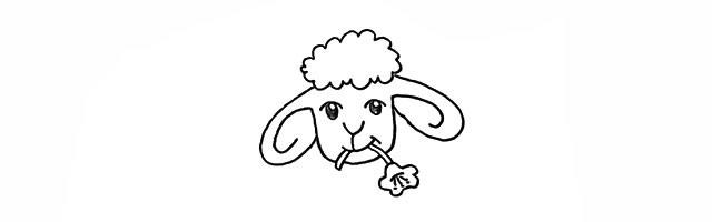 小绵羊的画法 学画小绵羊简笔画步骤图解教程