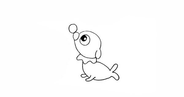 彩色小海狗如何画 可爱的小海狗简笔画步骤图教程